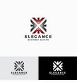 elegance - stylish letter e logo template vector image vector image