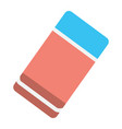 eraser flat icon education and school rubber vector image