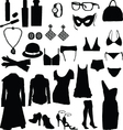 female clothing silhouettes vector image vector image
