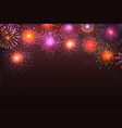 fireworks background colorful explosion vector image vector image