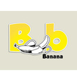 Fruits and vegetables alphabet - letter B vector image