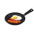 frying egg breakfast appetizing vector image vector image