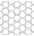 gray complicated hexagons on white geometric vector image vector image