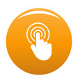 hand cursor web icon orange vector image