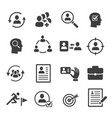 headhunting icons set personnel selection vector image