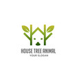 house tree animal logo vector image vector image