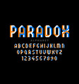impossible shape style font design alphabet vector image vector image