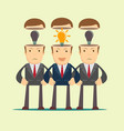 leadership concept with crowd of businesspeople vector image vector image