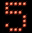 led digits 5 vector image vector image