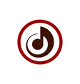 letter d music note logo icon vector image