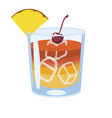mai tai cocktail isolate on white background vector image