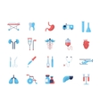 Medicine - flat design icons pictograms vector image