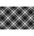 Menzies tartan black kilt diagonal fabric texture vector image vector image