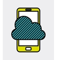 mobile technology design vector image