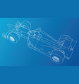model speed car abstract drawing wire-frame vector image vector image