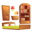 modern furniture for bedroom vector image