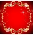 Ornate vintage floral frame Design for invitations vector image vector image