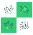 outdoor landmarks nature sites recreational park vector image vector image