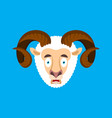 ram omg scared face avatar sheep oh my god emoji vector image