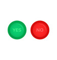 red and green yes and no buttons vector image vector image