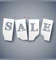 sale paper labels set vector image vector image