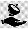 Satellite dish sign vector image