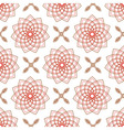Seamless of geometric weaving pink forms like flow vector image vector image