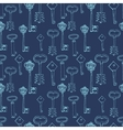 seamless pattern with retro keys vector image