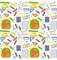 seamless pattern with school stationery vector image vector image