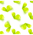 seamless sprout leaves pattern vector image vector image