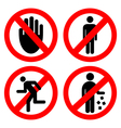 Set ban icons vector image vector image