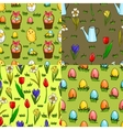 set four seamless patterns for easter vector image