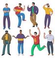set men characters vector image vector image