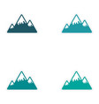 Set of stickers Canadian mountain on white vector image vector image