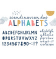 Set two scandinavian lettering alphabets