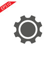 Setting icon tools cog gear sign vector image