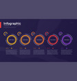 stylish colorful infographic template vector image