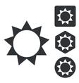 Sun icon set monochrome vector image