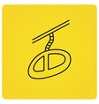 Teleferic icon Telpher cable-railway sign vector image