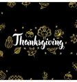 Thanksgiving Gold Black Postcard vector image vector image