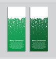 the vertical winter green banner stickers tag vector image vector image
