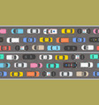 top view of numerous cars in a traffic jam vector image