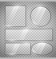 transparent glass glossy buttons in different vector image