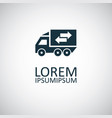 truck arrow icon for web and ui on white vector image