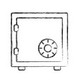 uncolored safe vector image vector image