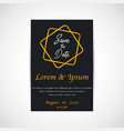 wedding save the date invitation card black vector image vector image