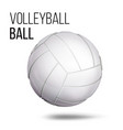 white volleyball ball isolated realistic vector image vector image