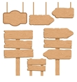 Wood Guidepost Decorative Icons Set vector image