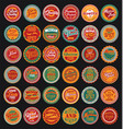 mexican design retro vintage labels set vector image