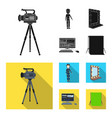 a movie camera a suit for special effects and vector image vector image